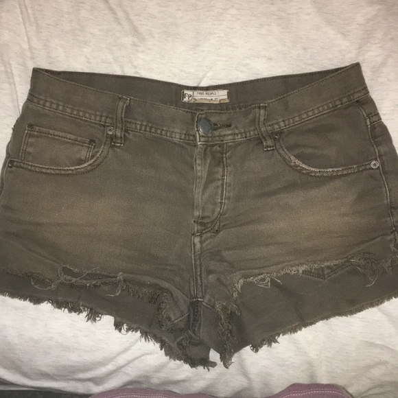 Free People Pants - Free people buttonfly shorts